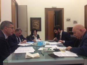 Da sx Mef Saveria Sechi, Alessio Villarosa, Raffaele Di Giglio, Augusto Cipollone, Eugenio Piccolo (foto Giovanni Coviello)