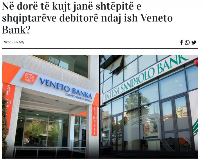 Veneto Banka e Intesa Sanpaolo Banka su Gazeta Si