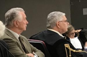 Gianni Zonin con l'avv. Ambrosetti in udienza al processo BPVi