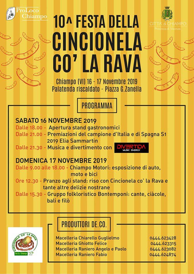 Festa della Cincionela co' la rava De. Co. a Chiampo - Vicenza Più