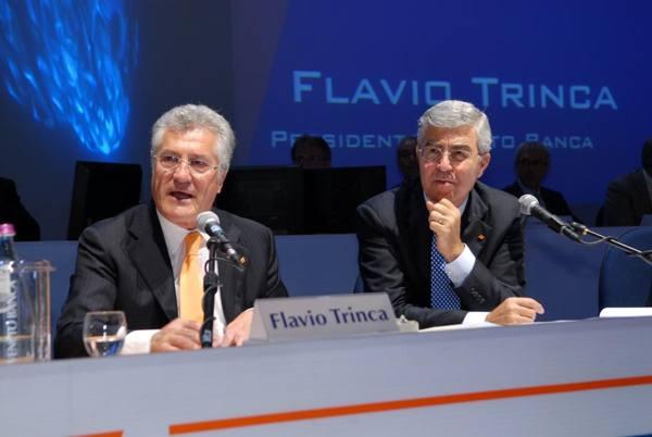 Flavio Trica con Vincenzo Consoli, presidente e Ad di Veneto Banca
