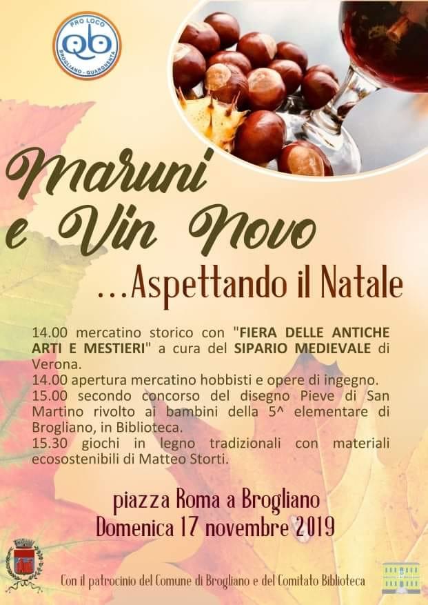 Maruni e vin novo…aspettando il Natale a Brogliano - Vicenza Più