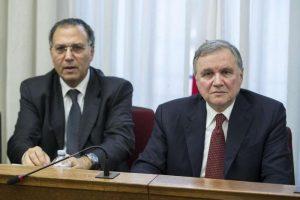 Ignazio Visco col suo capo ispettore Carmelo Barbagallo