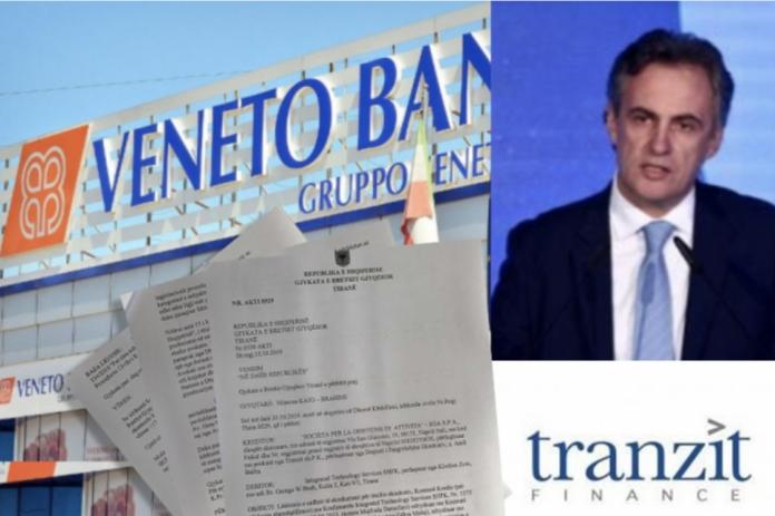 Veneto Banka e Andy Ballta dii Tranzit (montaggio da Newsbomb.al)