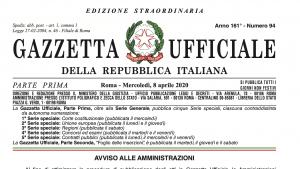 Decreto liquidità sulla Gazzetta Ufficiale dell'8 aprile 2020