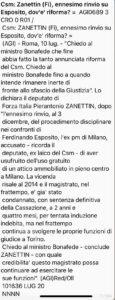 Lancio Agi su Zanettin vs Esposito