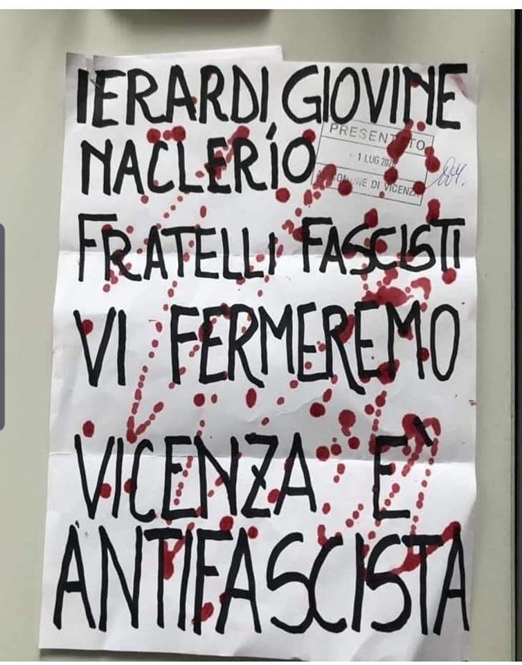 Ierardi, Giovine, Naclerio nel mirino degli antifascisti. Formaggio ...