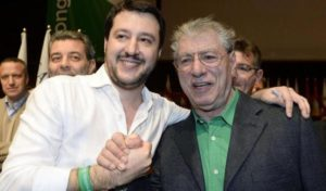 Matteo Salvini con Umberto Bossi