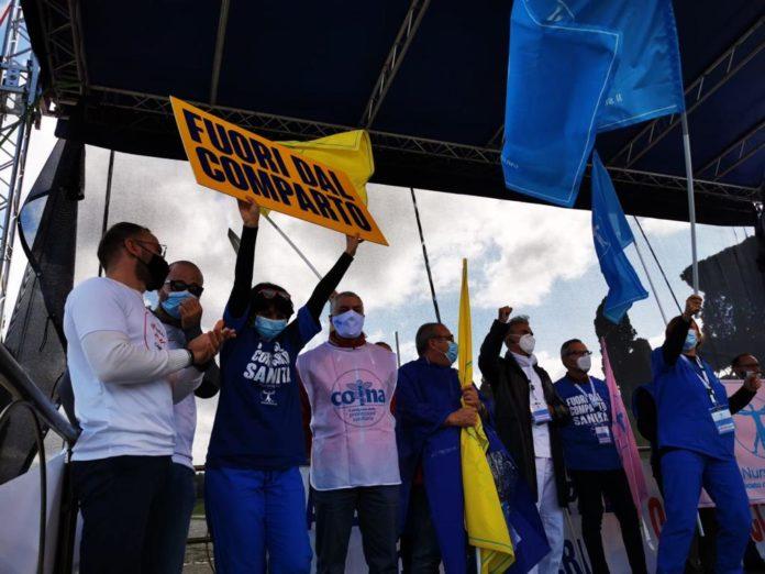 """Infermieri protestano al Circo Massimo, Antonio De Palma (Nursing Up): """"ci sentiamo già tanto presi in giro"""""""
